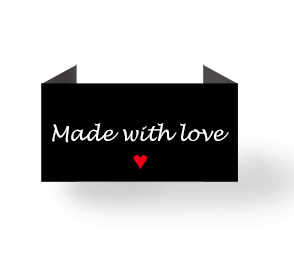 Made with love - sort/hvid - endebukket