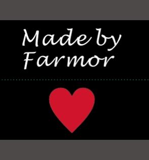 Made by Farmor - heart - svart/vit