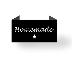 Homemade - sort - endebukket