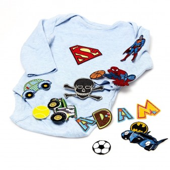 Stryklappar & bokstäver för kläder