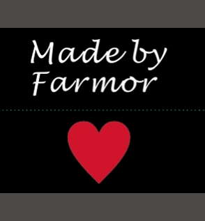 Made by Farmor - heart - sort/hvid