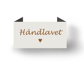 Håndlavet - beige - endebukket