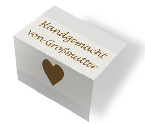 Made by Großmutter - cremeweiß/braun mittenfalz