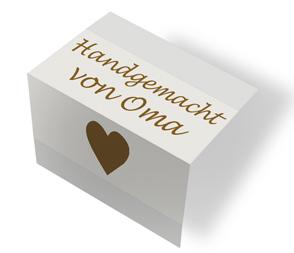 Handgemacht von Oma - cremeweiß/braun mittenfalz