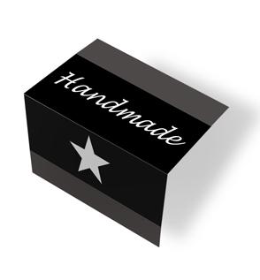 Handmade - czarny/biały Zaprasowane na pół