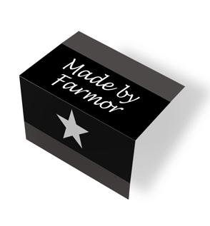 Made by Farmor - star - svart/hvit midtfoldet