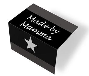 Made by Mamma - svart/hvit midtfoldet