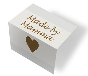 Made by Mamma - drapplitað/brúnt miðbrotin