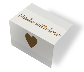 Made with love - beige/brun midtfoldet