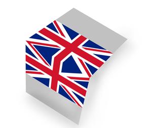 Flaga brytyjska Składana na pół (centerfold)
