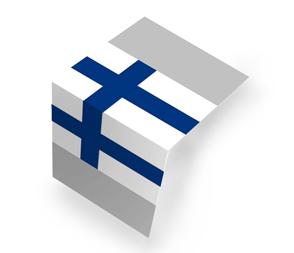 Flaga fińska Składana na pół (centerfold)