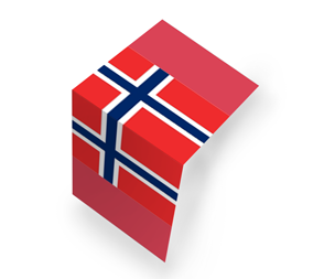 NO flag mittenfalz
