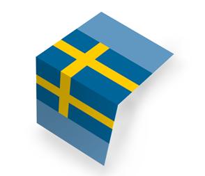 Flaga szwedzka Składana na pół (centerfold)