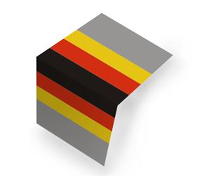 Flaga niemiecka Składana na pół (centerfold)